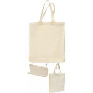 Wingham' 4.5oz Zipped Cotton Fold-up Shopper