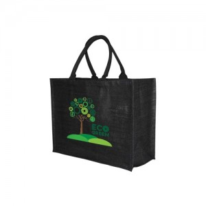 Solstice Jute Shopper - Black